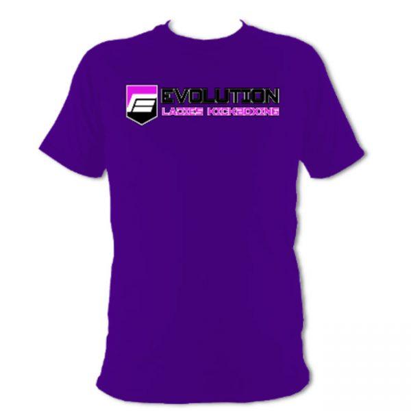 Ladies Kickboxing T-Shirt Purple
