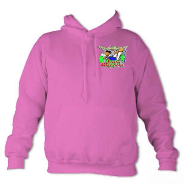 Little Warrior Hoodie Pink Front